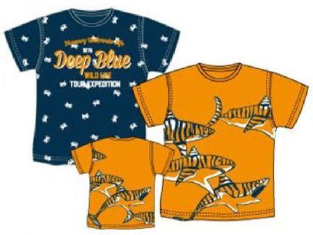 Carodel chlapčenský set 2ks tričiek 92 modrá / oranžová