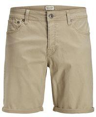 Jack&Jones Moške kratke hlače Irick Jjoriginal Short s WV 01 White poper