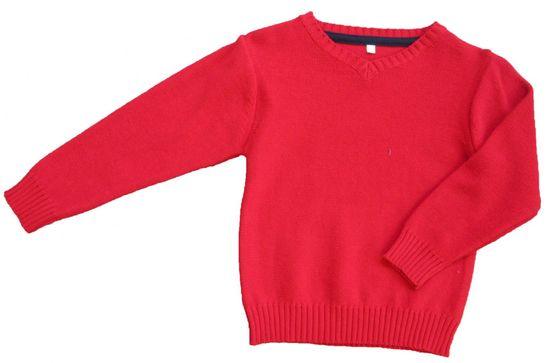 Carodel chlapecký svetr 122 červená