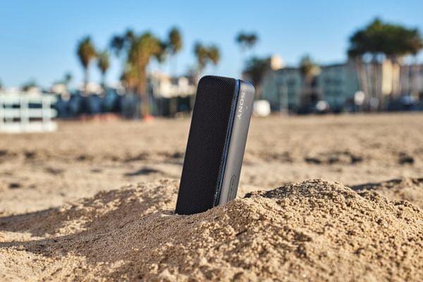 reproduktor přenosný Bluetooth sony srsxb32 krytí ip67 odolnost vůči vodě nárazu prachu písku omyvatelný vodou extrémní podmínky