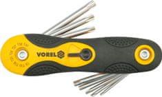 Vorel Súprava kľúčov TORX 8 ks CrV