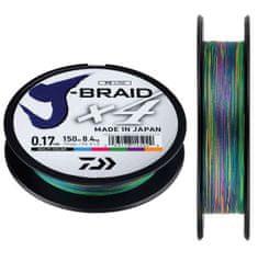 Daiwa Splietaná Šnúra J-Braid Multi Color 300 m