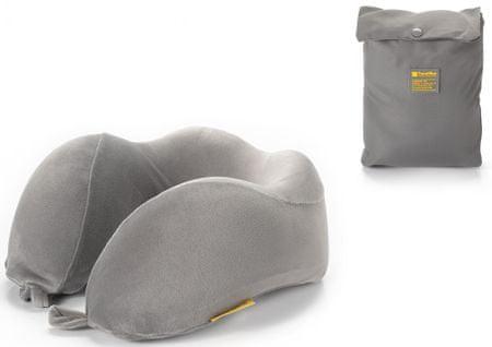 TravelBlue Ergonomicky tvarovaný krční polštářek z paměťové pěny, šedý TBU212G