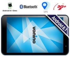 Vonino tablični računalnik Pluri M8, IPS zaslon, 2GB+16GB+MicroSD, Android 8.1 Oreo, 3G+, GSP, temno siv