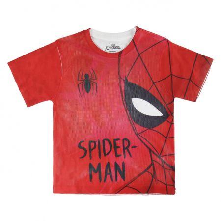 Disney Chlapčenské tričko Spiderman - červeno-biele