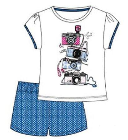 Carodel dievčenský set trička a kraťasy 116 modrá