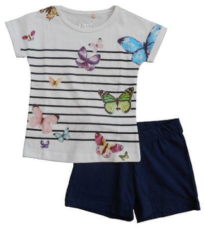 Carodel dievčenský set trička a kraťasy 122 modrá