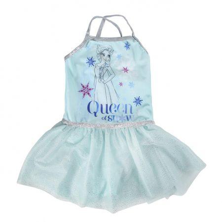 Disney Dievčenské šaty Frozen - svetlo modré