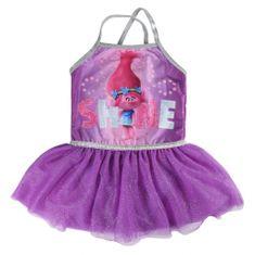 Disney Dívčí šaty Trollové - fialové
