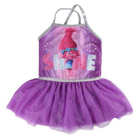 Disney Dievčenské šaty Trollovia - fialové