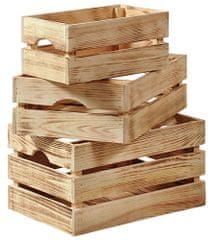 Kesper dřevěná opálená bedýnka