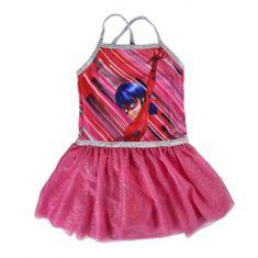 Disney Dívčí šaty Ladybug - růžové