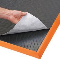 Černo-oranžová protiúnavová sorpční rohož Sorb Stance - 91 cm a 2,1 cm
