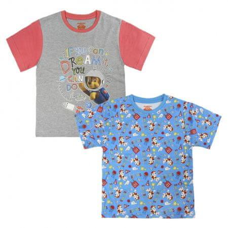 Disney Chlapčenská súprava 2 ks tričiek Paw Patrol - farebná