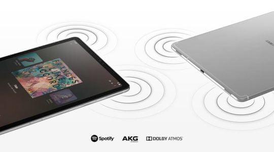 Samsung Galaxy Tab S5e, cztery głośniki, dźwięk przestrzenny, AKG, Dolby Atmos