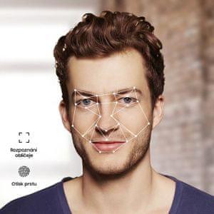 Samsung Galaxy Tab S5e, czytnik linii papilarnych, odblokowanie za pomocą twarzy