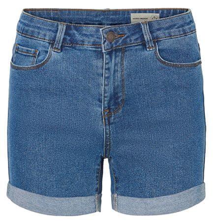 Vero Moda Női rövidnadrág Short Hot Seven Dnm Short a Noos közepes Blue Denim keverékével (méret XL)