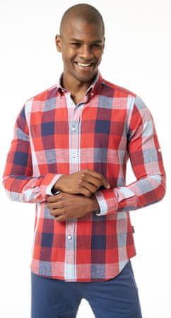 6e5055cad568 Jimmy Sanders pánska košeľa M červená