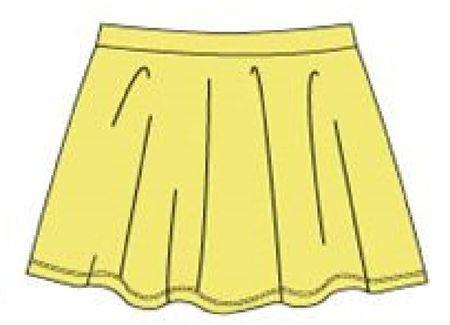 Carodel dívčí sukně 98 žlutá - použité