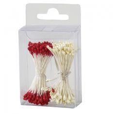 Decora Lesklé pestíky - bílé, červené