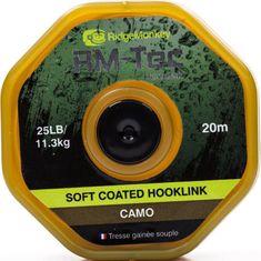 RIDGEMONKEY Návazcová Šnúrka RM Tec Soft Coated Hooklink 20 m Camou