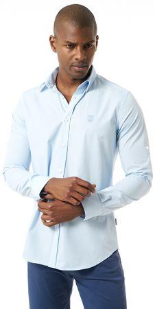 Jimmy Sanders pánská košile M světle modrá