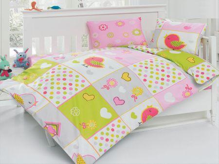 BedTex Madarak gyermek ágynemű, 100x135/40x60