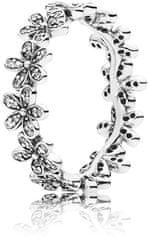Pandora Svetleč marjetni prstan 190934CZ srebro 925/1000