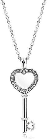 Pandora Ezüst nyaklánc Kulcs a szívhez 396581CZ-80 ezüst 925/1000