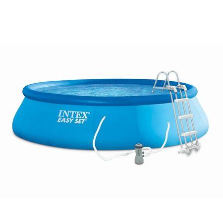 Intex bazen Easy Set, 457 × 107 cm, s filter kartušo, z lestvijo, 26166NP