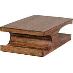 Bruxxi Konferenční stolek Boha, 118 cm, masiv Sheesham