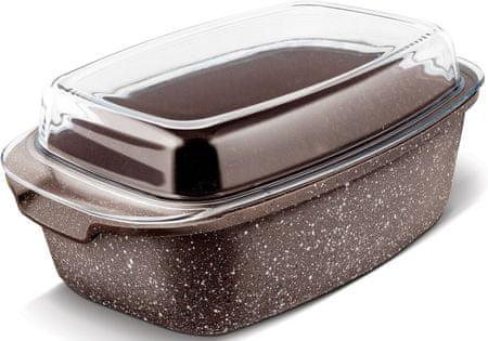 Lamart LT1155 Marble posuda za pečenje s poklopcem, 7,5 L Marble
