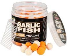 Starbaits Boilie Fluo Plávajúce Garlic Fish