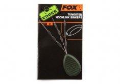 FOX Záťaž na montáž Tungstein Hooklink Sinkers Trans Khaki 9 ks