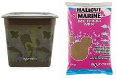 Bait-Tech krmítková zmes camo bucket halibut marine method mix 3 kg