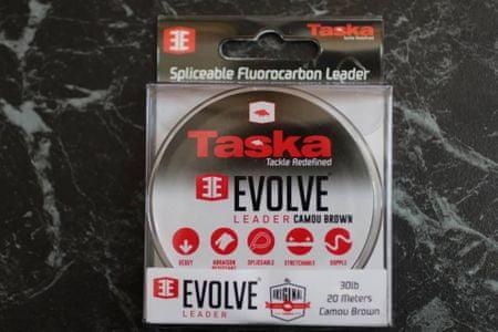 Taska Evolve leader splétaný odolný nástavec 10 m 30 lb, Brown