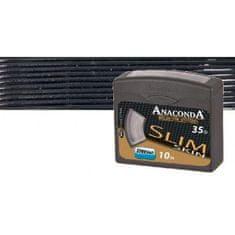 Anaconda pletená šnúra Slim Skin 10 m Black