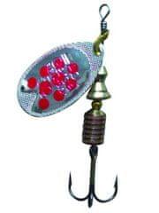 Abu-Garcia blyskáč fast attack silver/red dots