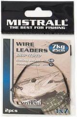 Mistrall Oceľové Lanko Wire Leaders 25cm