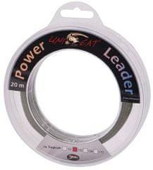 Unicat náväzcová šnúra Power Leader Grey 20 m
