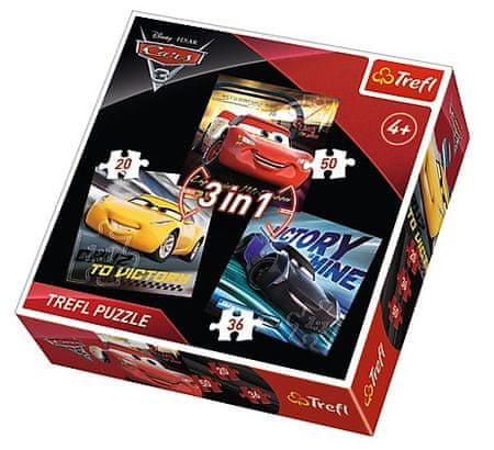 Trefl 3 Jigsaw Puzzles - Cars 3