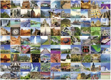 Ravensburger Puzzle 1500 dílků 99 plus beaux endroits du monde