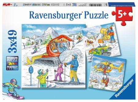 Ravensburger 3 Puzzles - On the Ski Slope