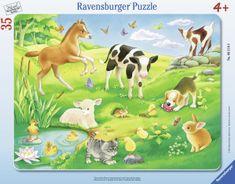 Ravensburger Puzzle Cadre - Animaux dans le Pré