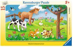 Ravensburger Puzzle Cadre - Affectueux Animaux