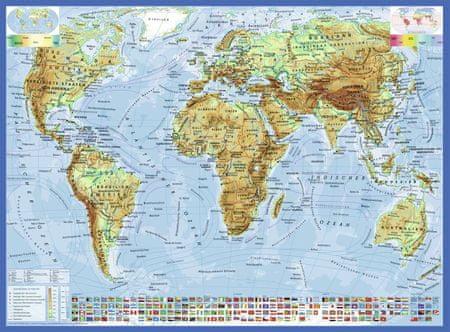 Ravensburger Puzzle 300 db Carte du Monde, en Allemand