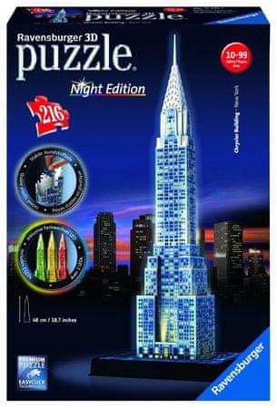 Ravensburger Puzzle 216 dílků 3D Jigsaw Puzzle with Led - Chrysler Building