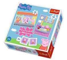Trefl 2 Puzzles + Memo - Peppa Pig