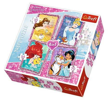 Trefl 4 Jigsaw Puzzles - Disney Princess