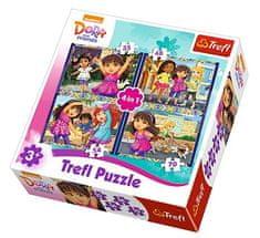Trefl 4 Jigsaw Puzzles - Dora